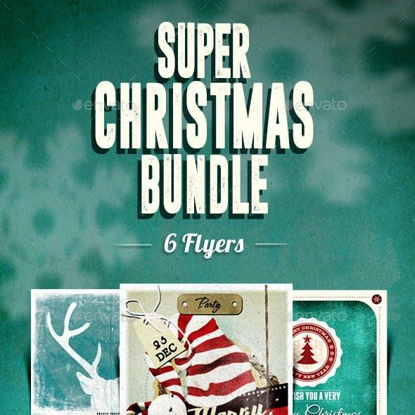 6 Flyers Super Christmas Bundle