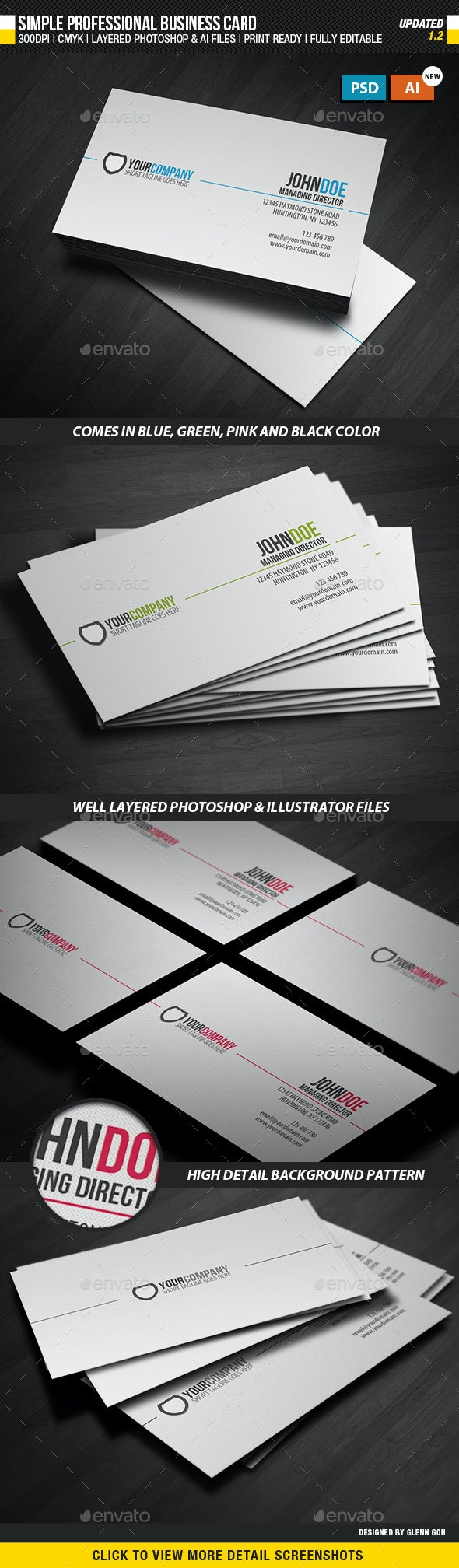 Simple Professional Business Card - Corporate Business Cards
