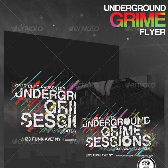 Underground Grime/Electro Flyer
