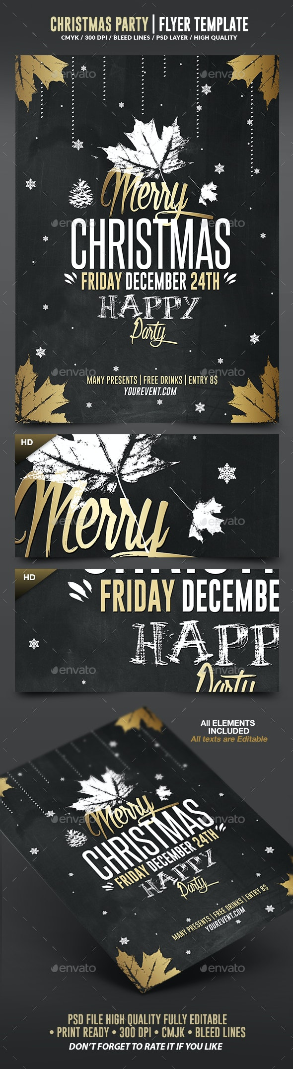 Christmas 2016 | Psd Flyer Template - Holidays Events