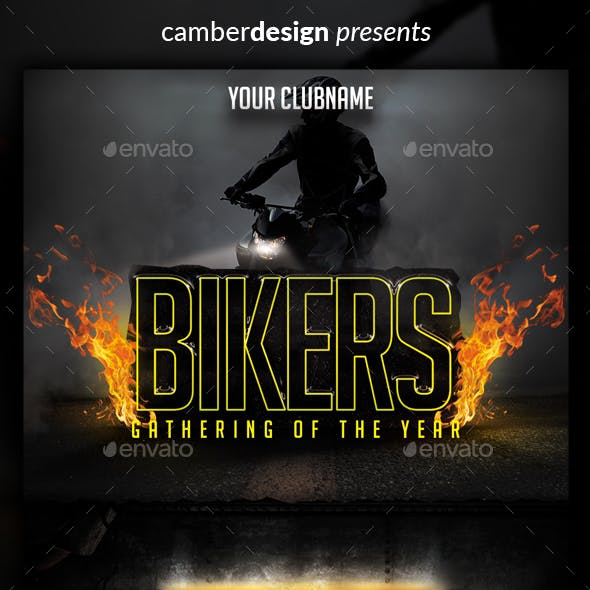 Bikers gathering flyer
