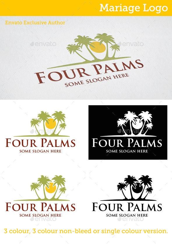 Four Palms Logo - Nature Logo Templates