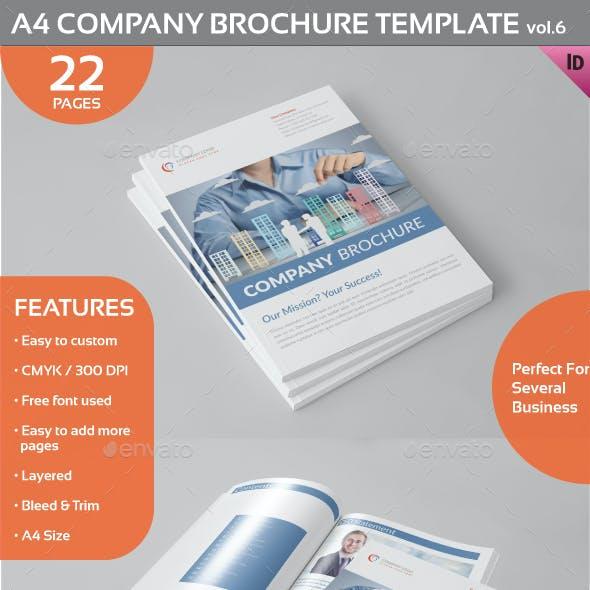 A4 Company Brochure Template vol.6