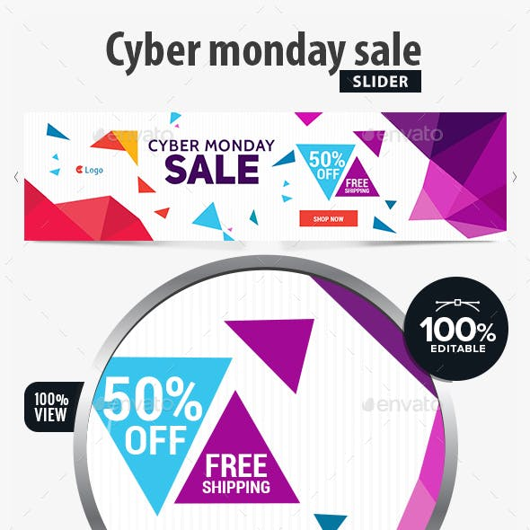 Cyber Monday Sale Slider