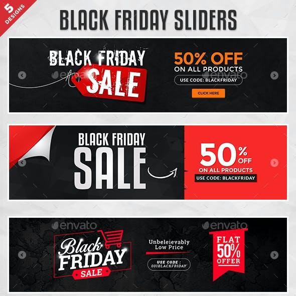 Black Friday Sliders - 5 Designs
