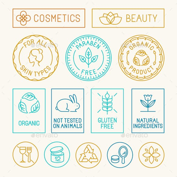 Natural Cosmetics Badges
