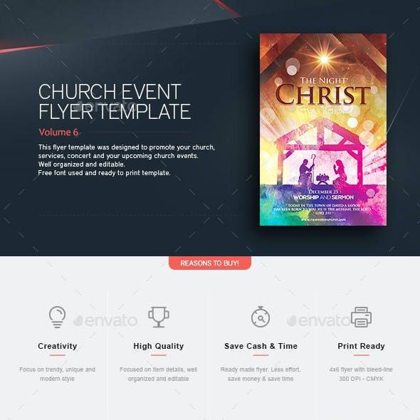 Christ Was Born - Flyer Template