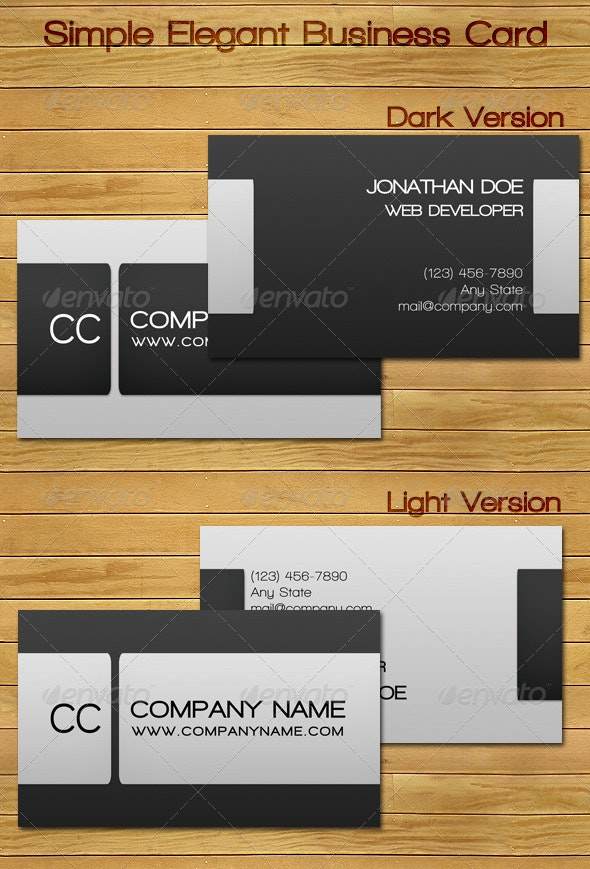 Simple Elegant Business Card - Corporate Business Cards