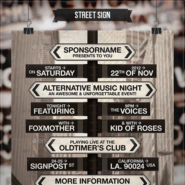 Street Sign - Flyer & Poster