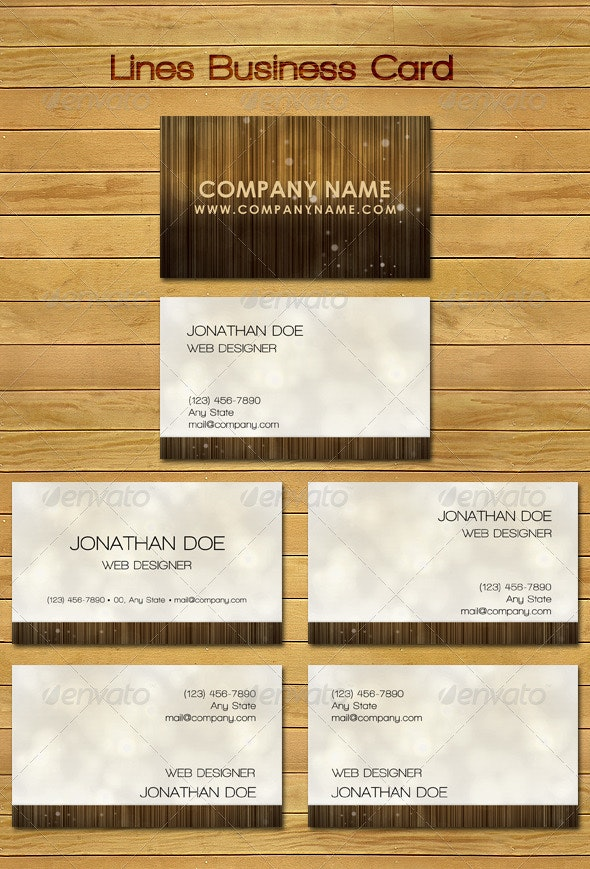 Elegant Lines Business Card - Creative Business Cards