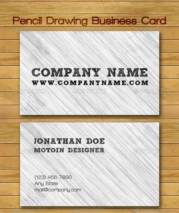 Pencil Drawing Business Card - Grunge Business Cards