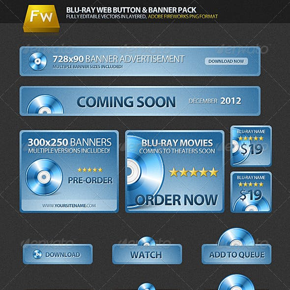 Blu-ray Web Pack | Buttons & Banners