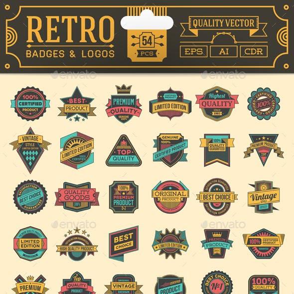 Retro Badges and Logos