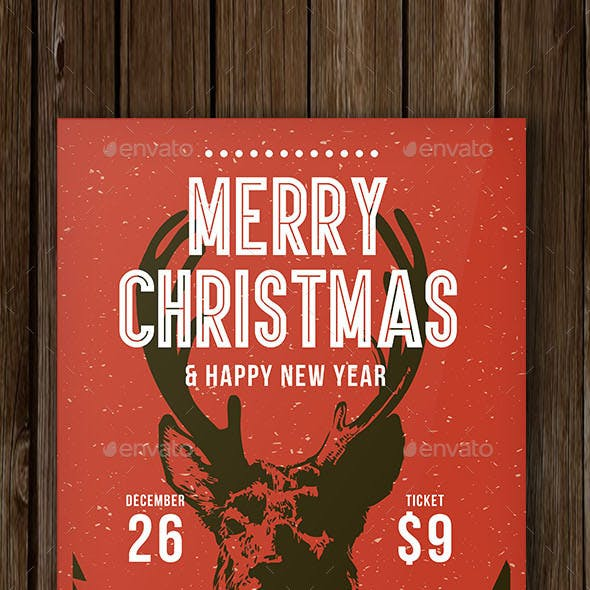 Christmas & Heppy New Year Flyer