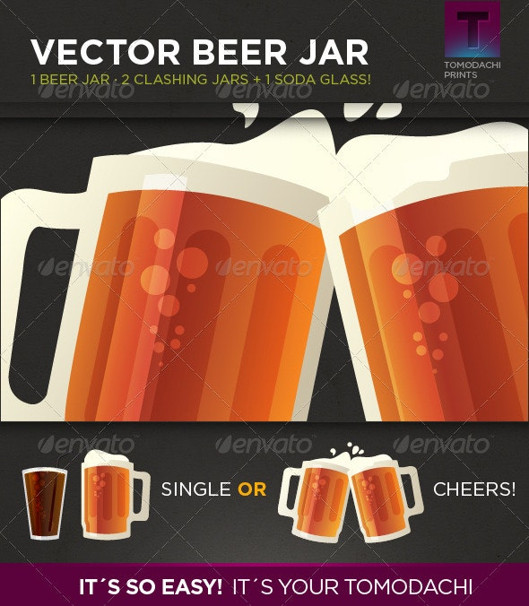 Vector Beer Jar - Objects Vectors