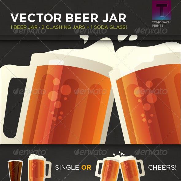 Vector Beer Jar