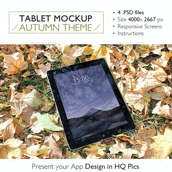 Tablet Mockup Autumn Theme