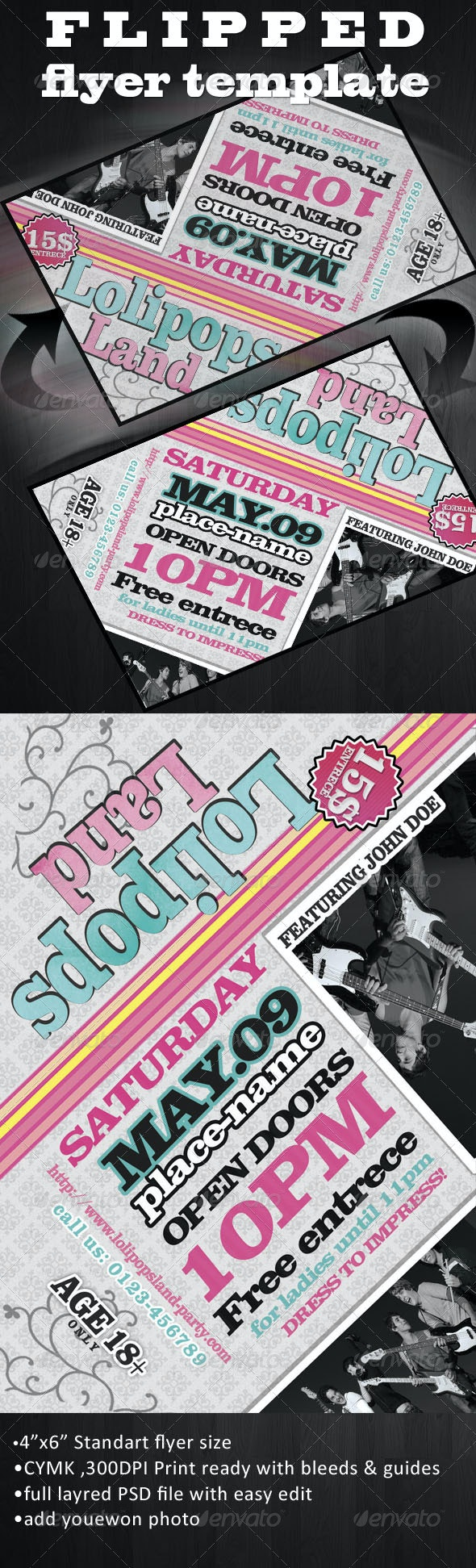 Flipped Flyer Template - Clubs & Parties Events