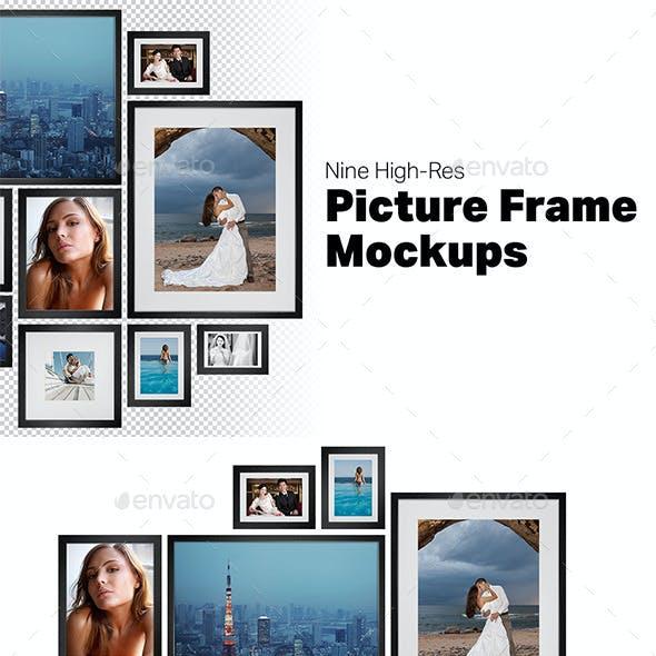 9 Picture Frame Mockups
