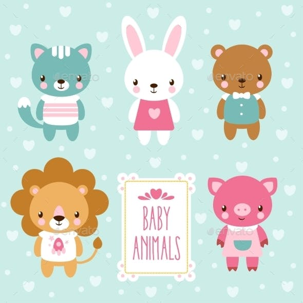 Set of Baby Animals