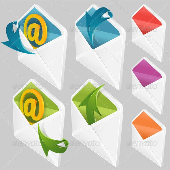 Set of Envelopes - Communications Technology
