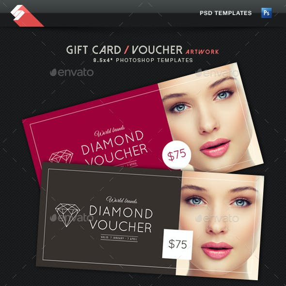 Diamond Voucher - Gift Card Template