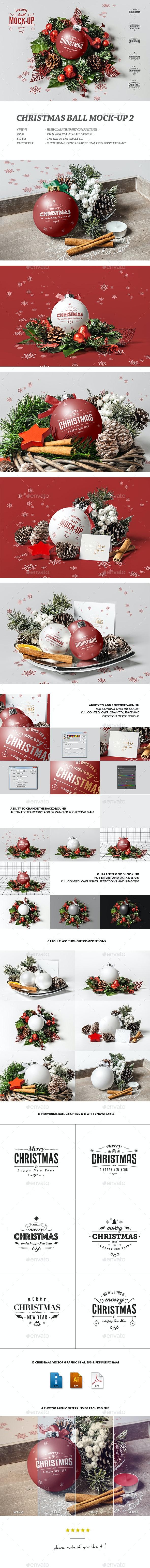 Christmas Ball Mock-up 2 - Miscellaneous Print