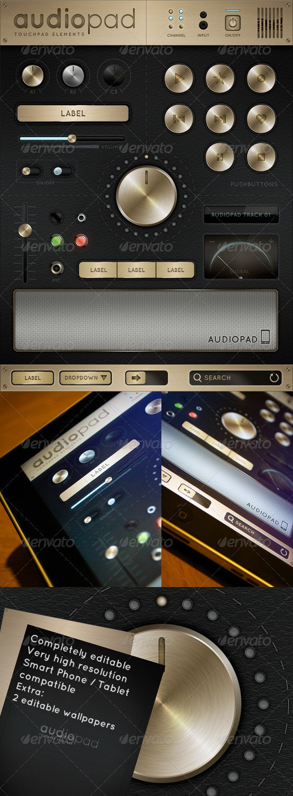 Audiopad - Touch User Interinterface - User Interfaces Web Elements