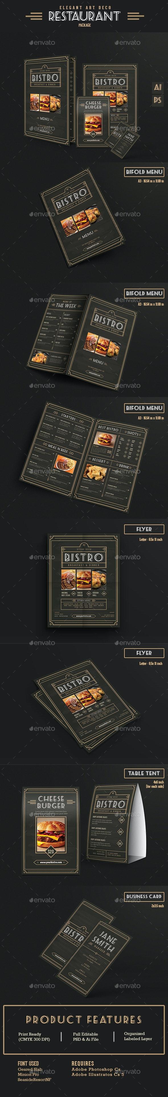 Elegant Restaurant Package - Food Menus Print Templates