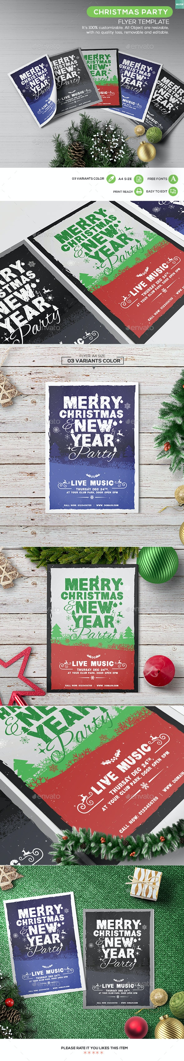 Christmas Party - Flyer Template 04 - Holidays Events