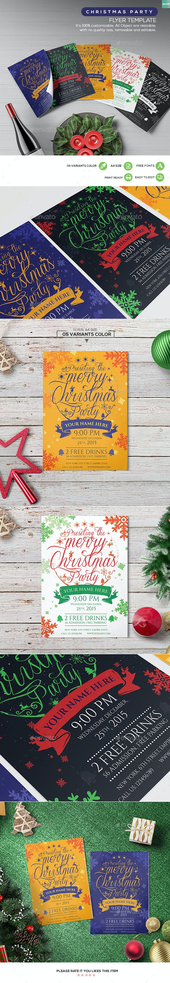 Christmas Party - Flyer Template 03 - Holidays Events