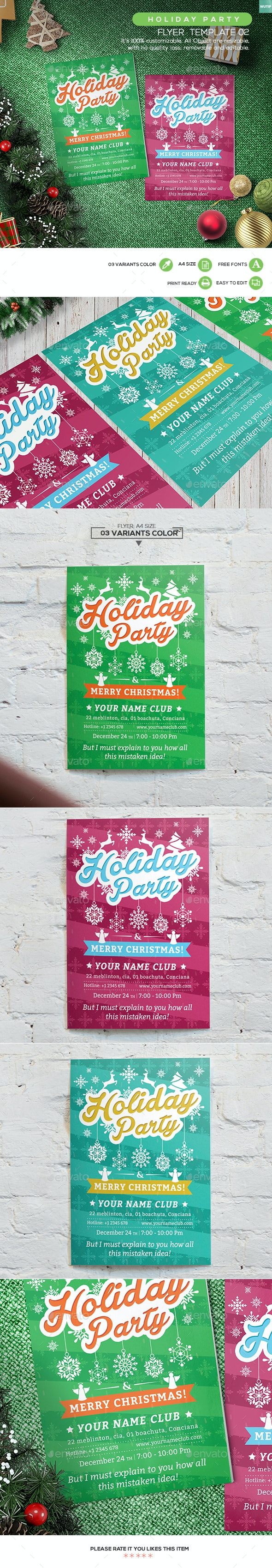 Holiday Party Flyer Template 02 - Holidays Events