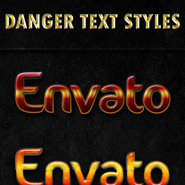 Danger Text Styles