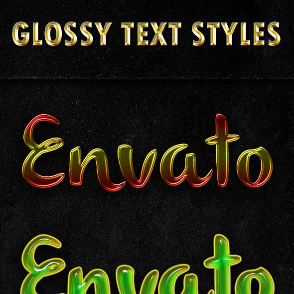 Glossy Text Styles