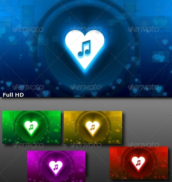 Love Song - Backgrounds Pack - Tech / Futuristic Backgrounds