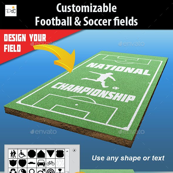 Customizable football & soccer fields