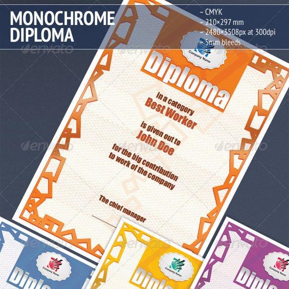 Monochrome Diploma