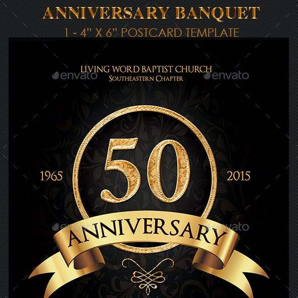 Anniversary Banquet Flyer Template
