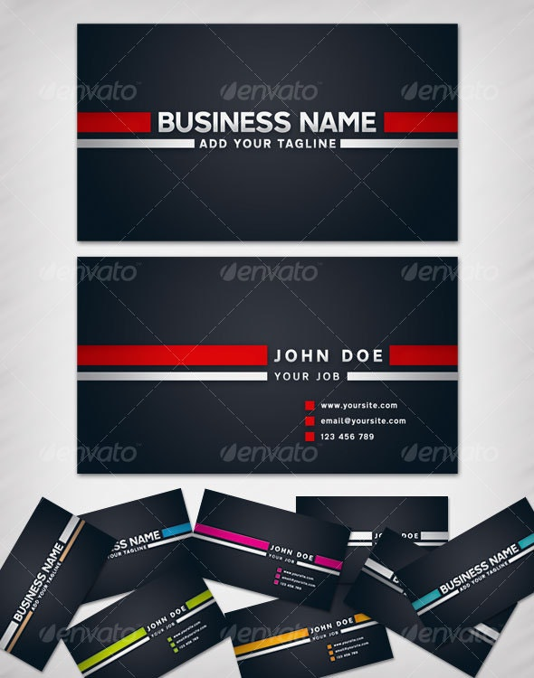 Two Stripes Business Card - Corporate Business Cards