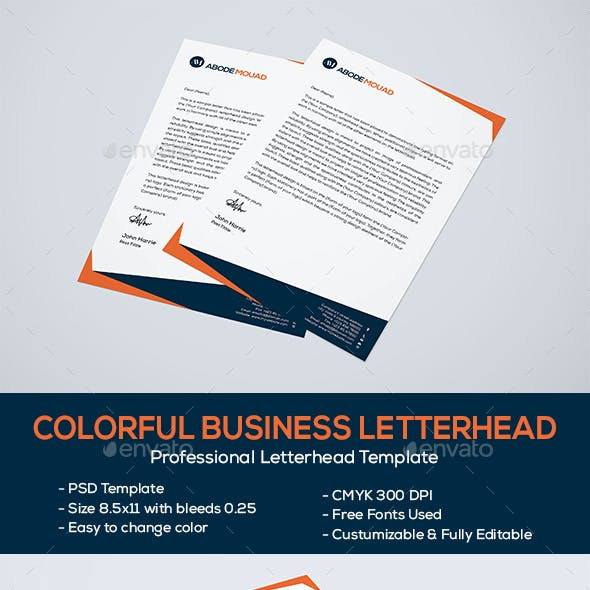 Colorful Business Letterhead