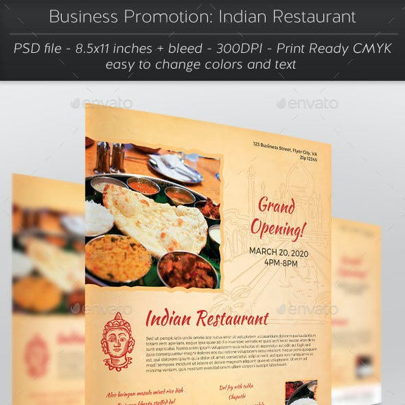 Business Promotion: Indian Restaurant