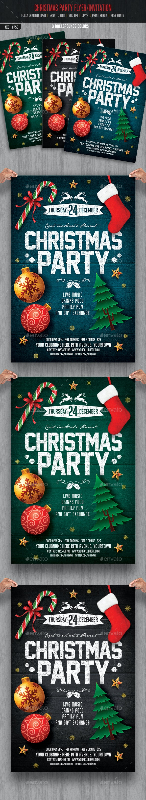 Christmas Party Flyer/ Invitation