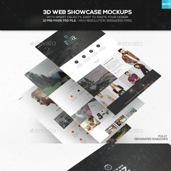 3D Web Showcase Mockups
