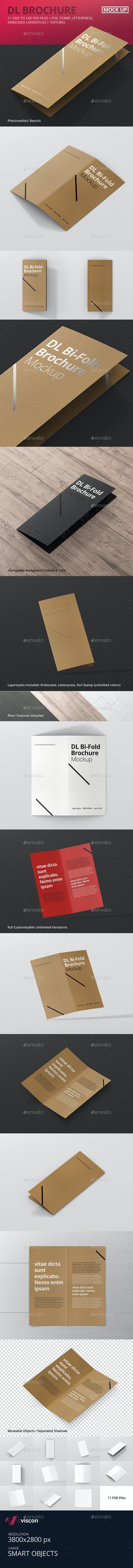DL Bi-Fold Brochure Mock-Up - Brochures Print