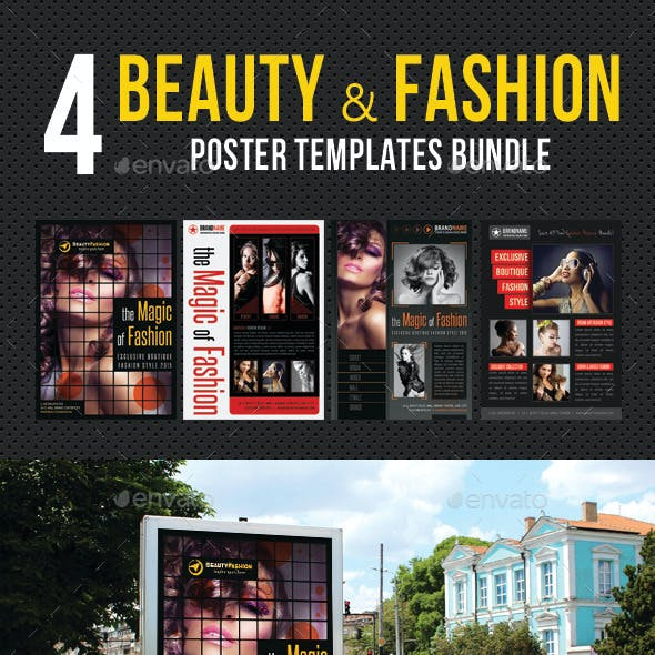 4 in 1 Beauty and Fashion Poster Bundle 02