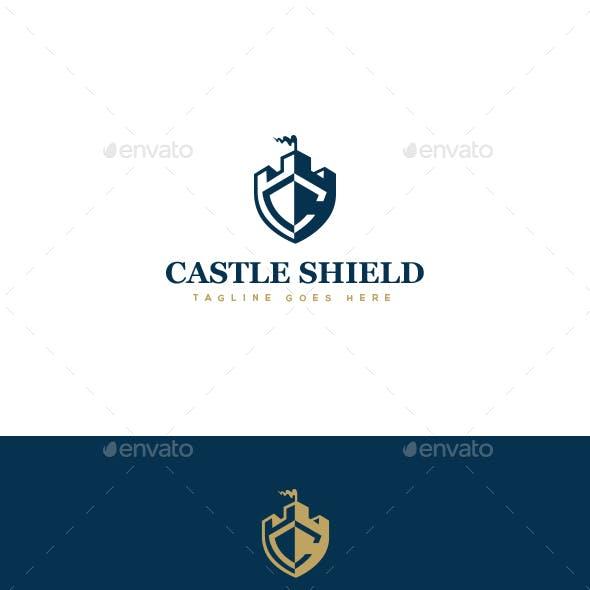 Castle Shield Logo Template