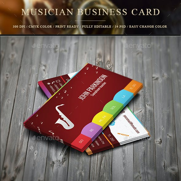 Personal Musician Business Card
