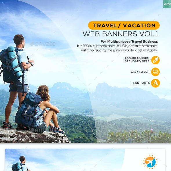 Travel/ Vacation - Web Banner Vol1