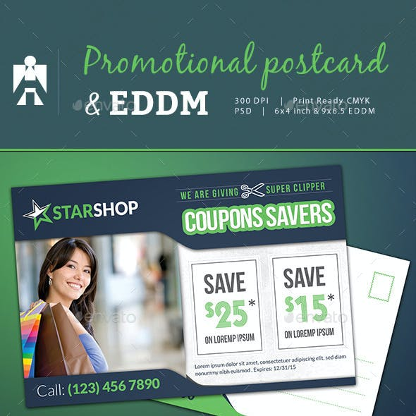 Coupon Code Postcard and Every Door Direct Mail EDDM