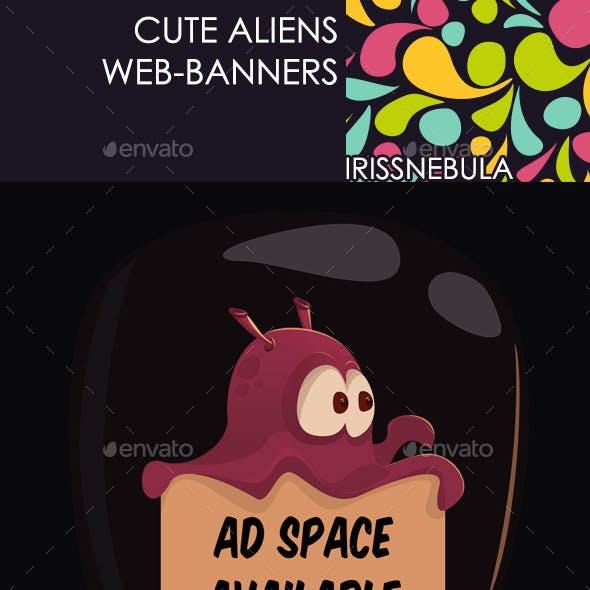 Cute Aliens Web-banners
